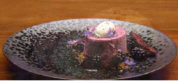 Jess Butler's blackberry, milk and lemon myrtle dessert on Masterchef  Australia 2017