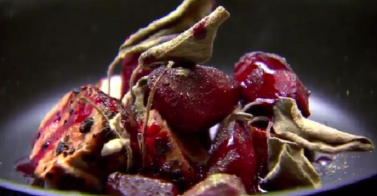 Ben's campfire on a beach dish on Masterchef Australia 2017