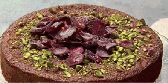Yotam's Semolina Cake with rose petals and pistachios on Masterchef Australia 2017