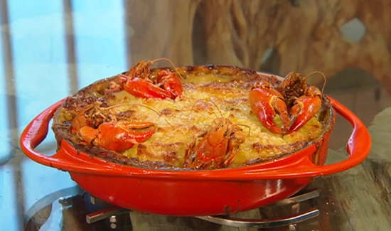 Matt's fish pie with crayfish on Saturday Kitchen