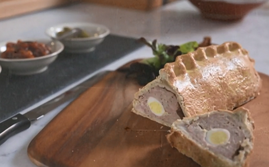 The Hairy Bikers gala pork pie with quails eggs on Saturday Kitchen