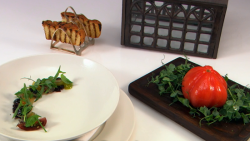Phil's Green House starter dish on the Great British Menu
