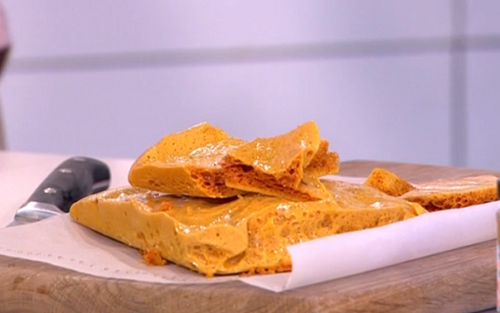 Phil Vickery's honeycomb on This Morning
