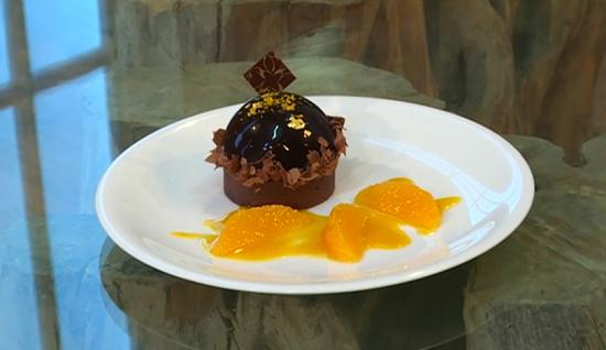 William Curley's Jaffa cake tart on Saturday Kitchen