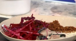 Guy and Celia's pickled mackerel, mooli and beetroot salad on Sunday Brunch