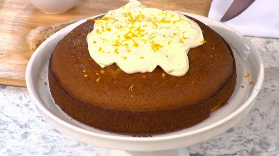 Rebecca's sponge cake with macadamia oil on Sunday Brunch