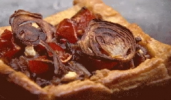 Samuel's caramelised onion and roasted tomato tart recipe on MasterChef Australia 2017