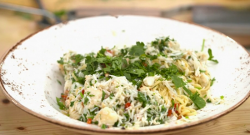 Mary Ann's homemade pasta with crab and chilli on Yes Chef