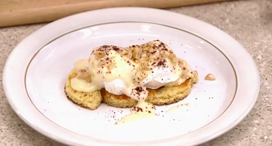 Matt Gillian's poached eggs on toast with hazelnut emulsion on Yes Chef