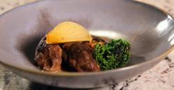 Nigel Haworth's pork cheeks with liquorice sauce on Yes Chef