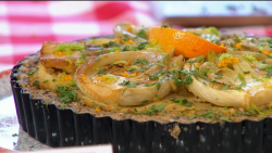 Adria Wu's chickpea Quiche on Sunday Brunch