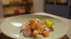Simon Rimmer's scallop ceviche on Eat the Week with Iceland