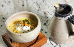 Paul Ainsworth's smoked haddock soup on Yes Chef