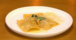 Danny's spinach and ricotta ravioli on Yes Chef