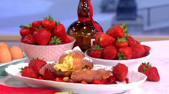Wolfgang Puck's strawberries with an a-list twist on This Morning