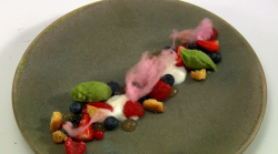 Ali's If Summer Ever Comes To Scotland dessert on the Great British Menu