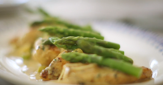 Mary Berry Chicken with lemon and asparagus recipe on Saturday Kitchen