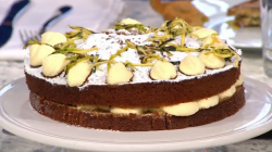 Tim Maddams courgette cake on Sunday Brunch