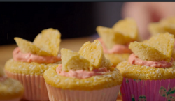 Simon Rimmer's butterfly cakes with raspberry frosting on Eat the Week with Iceland
