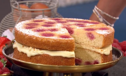 John Whaite's raspberry and white chocolate melting cake recipe on Lorraine