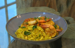 The Hairy Bikers South Indian prawn curry with lemon rice on Saturday Kitchen