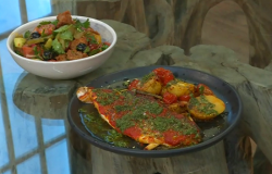 Donal Skehan's sea bass with baby potatoes on Saturday kitchen