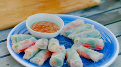 Nadiya Hussain crab summer rolls on Nadiya's British Food Adventure