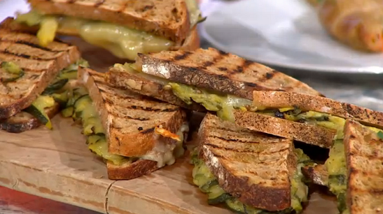 Tim Maddams courgette toasties on Sunday Brunch