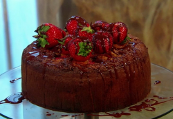 Jordan's Italian chocolate and strawberry cake on Saturday kitchen