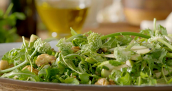 Nadiya Hussain apple, walnut and coriander salad with burnt garlic dressing on Nadiya's Br ...