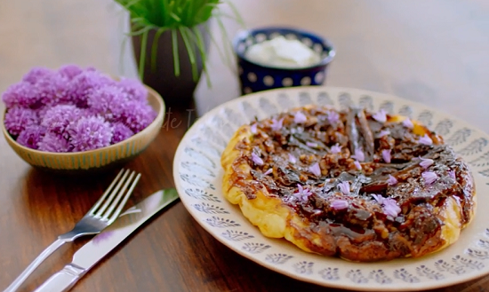 Nadiya Hussain haggis tarte tatin on  Nadiya's British Food Adventure