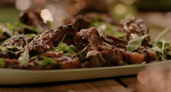 Nigella Lawson's Lamb Ribs With Nigella and Cumin Seeds on Saturday Kitchen