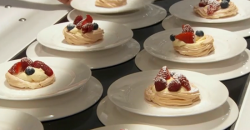 Angellica Bell pavlova with cream and berries dessert on Celebrity Masterchef 2017