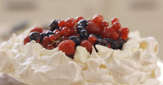 Mary Berry pavlova with blackberries and redcurrants recipe on Saturday Kitchen
