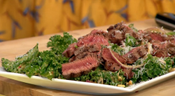 Simon Rimmer's rump steak with kale salad on Sunday Brunch