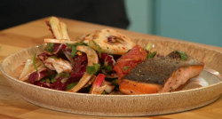 Simon Rimmer's crispy trout with grapefruit salad on Sunday Brunch
