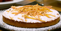 Pat King's almond cake on The Big Family Cooking Showdown