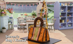 Steven's bag I need showstopper bread  sculpture on Bake Off 2017