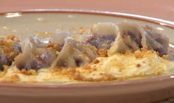 Rebecca Seal's blueberry dumpling on Sunday Brunch