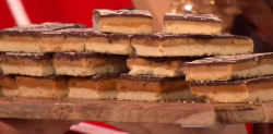 Tom's caramel shortbread biscuits on The Great British Bake Off: An Extra Slice