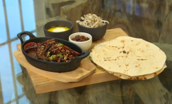 Carl Clarke's Mexican and Chinese beef mashup wraps  on Saturday kitchen
