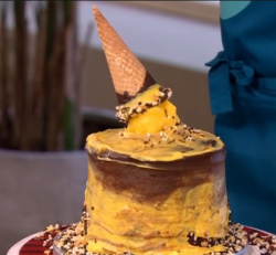 Phillip Schofield's chocolate ice cream dripping cake on This Morning
