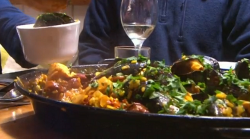 James Strawbridge  paella with mussels, ginger and Cornish flavours on The Hungry Sailors