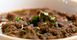 The Codougan Family curry goat and rice dish on The Big Family Cooking Showdown