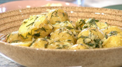 Bronte Aurell's Scandinavian dill, potato and beetroot salad on Sunday Brunch