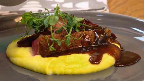 The Bellamore Family duck with beetroot, potatoes and red wine sauce dish on The Big Family Cook ...