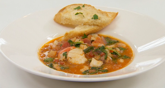 Lesley garrett s rustic french fish stew on celebrity for French fish stew