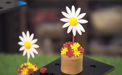 Becky Adlington's little daisy flower pot with Victoria sponge made using Cherish Finden recipe  ...