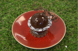 Angellica Bell chocolate garden monument dessert made using Cherish Finden recipe on Celebrity M ...