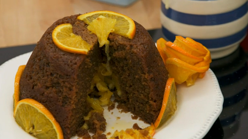 Julia's orange and treacle steamed school pudding on The Great British Bake Off